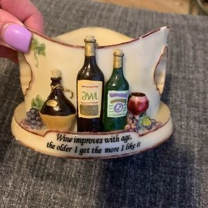 Wine coasters and holder